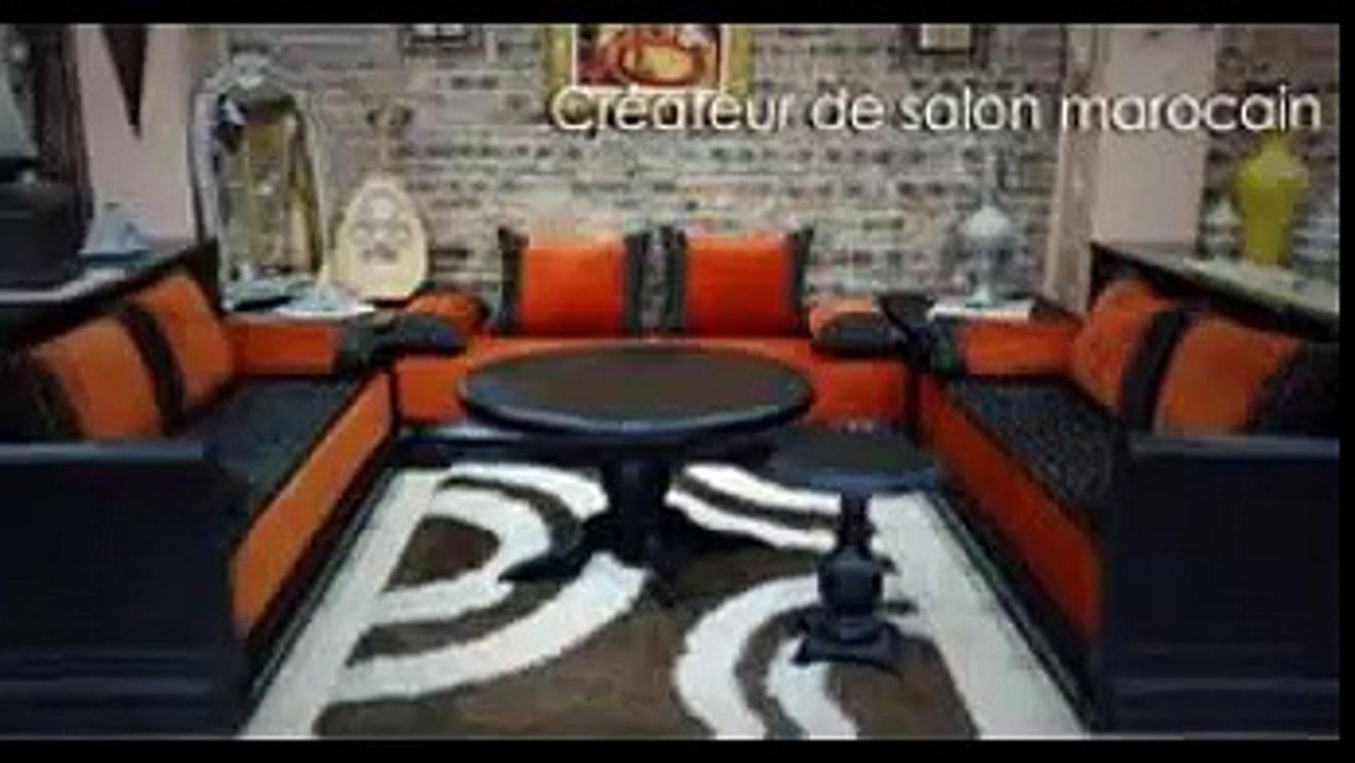 salon marocain noir