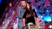 Justin Timberlake and Mila Kunis Tv Anchor Sexy behaviour push up With Lady Anchor In Live Award Function