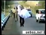 Stupid Car Accident- Funny Dumb woman driving   Truck crash