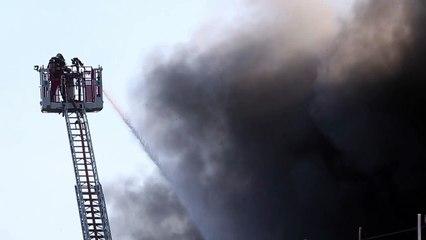 Violent incendie chez Chauffamat à Tourcoing