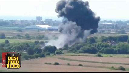 UK Plane Crashes Cars on Road, Brighton During Air Show | Plane Airshow Accident