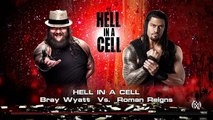 WWE 2015 Roman Reigns Vs Bray Wyatt - Hell in a Cell 2015 Hell in a Cell Match