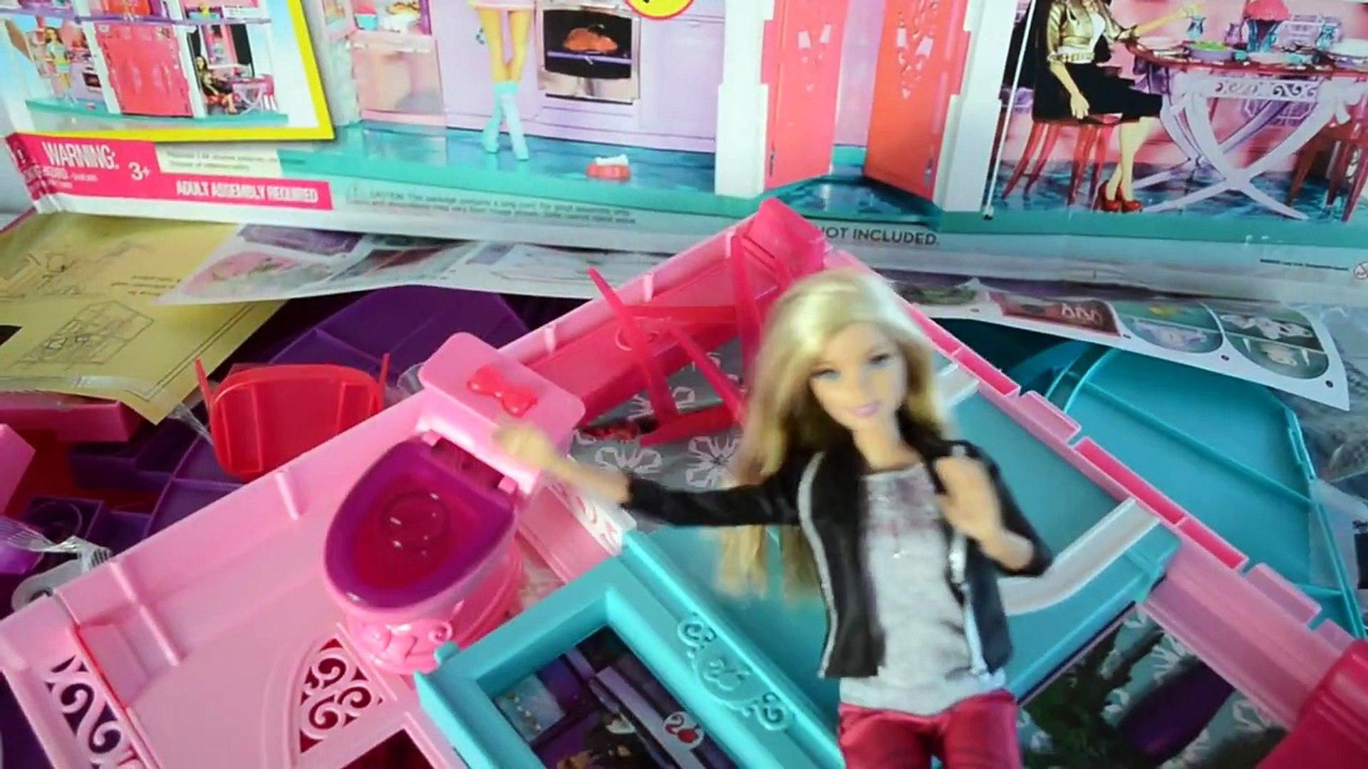 Casa da Barbie 3 andares Elevador casinha de boneca Barbe Kristoff Frozen DreamHouse