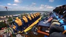 Valravn Roller Coaster POV Cedar Point 2016 Worlds Largest Dive Coaster Front Seat View!
