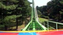 Thru the Woods Trees Jet Coaster Roller Coaster Front Seat Onride POV Pleasure Garden Hita