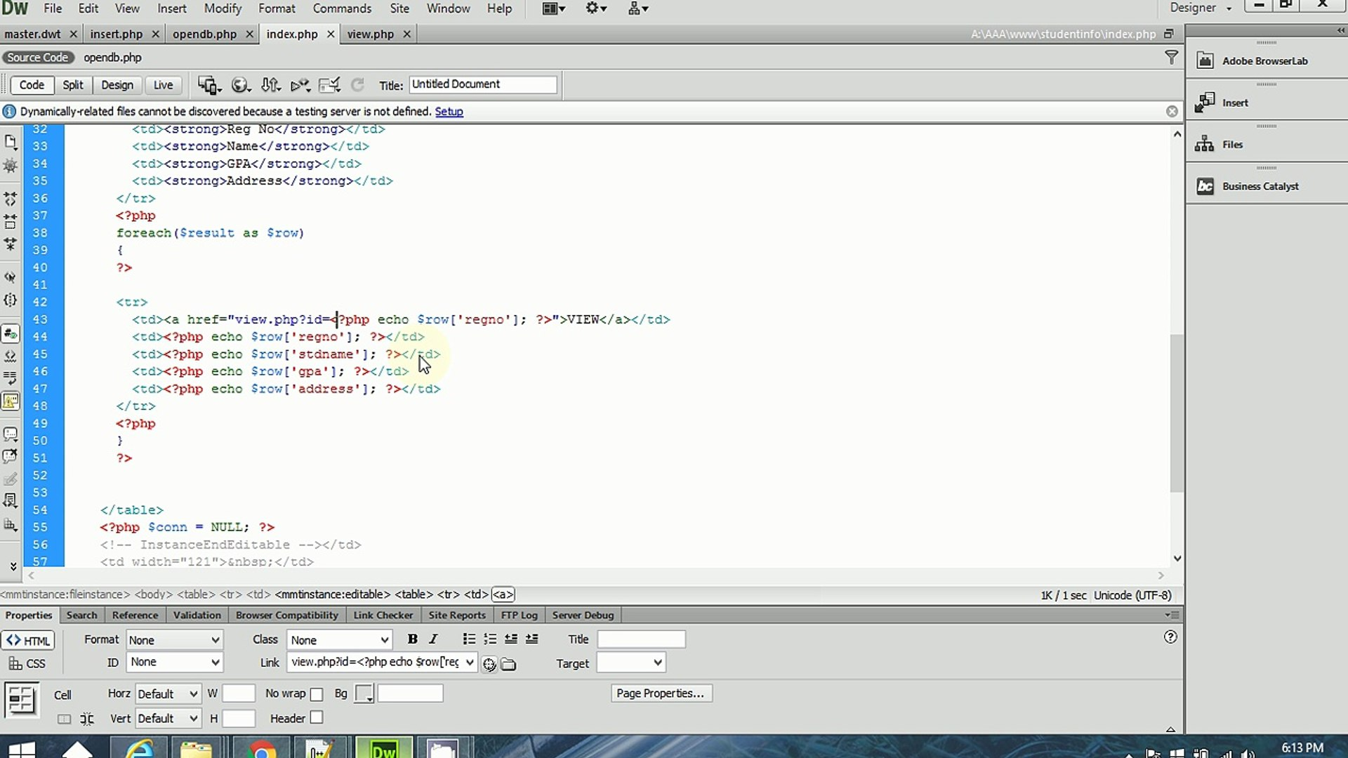 simple php tutorial part-6 (view data in a form in php)