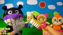 アンパンマン おもちゃアニメ みんなで歯磨き❤ハミガキ Toy Kids ト