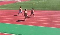 Hard struggle race of the wrestlers / Begini Jadinnya kalau para SUMO lomba Lari