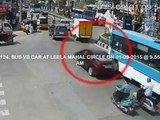 Bus Vs Car | Caught by CCTV Cam | Live Accidents in India | Tirupati Traffic Police
