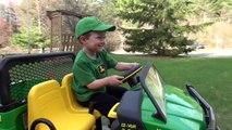 LITTLE BOY LOVES JOHN DEERE GATOR