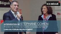 Intervention de Stéphane Cohen, Président de l'Ordres des Experts-comptables de Paris-IDF, lors du Forum Recrutement