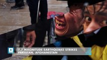 7.7 magnitude earthquake strikes Pakistan, Afghanistan