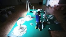 Minecraft : Sugar Metropolis de Brendan Jamison et Mark Revels, Time-lapse de l'installation