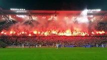"Les supporters du Legia Varsovie mettent le ""feu"""