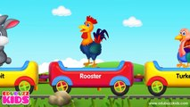 Learn Animal Train   Animal Sounds   Farm Animals, Birds, Sea Animals and Wild Animals Tra