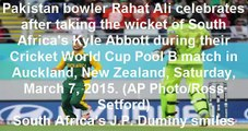 WATCH Pakistan Vs South Africa Cricket Match Highlights ICC World Cup 2015 07-03-2015