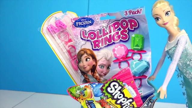 Frozen ELSA SHOPPING SURPRISE ★ Frozen Lollipops, Shopkins, Barbie Shoes, Bags, Necklaces,