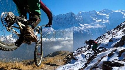 VTT descente les Pentes de l'Hôtel le Brévent Chamonix Mont-Blanc