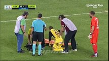 Greek Stretcher Bearer Drops Injured Player And Then Falls On Top Of Him   This Is Hilarious