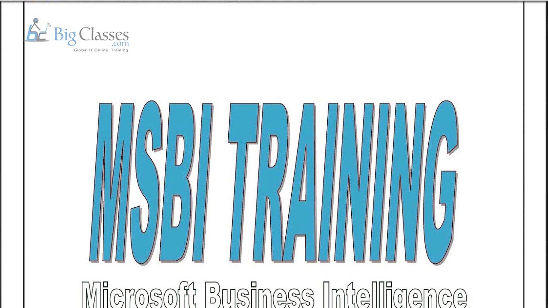 MSBI Online Training | MSBI Training for Beginners