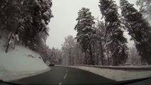 Driving in Vosges (27-01-2015) - Longemer à l'Auberge des 3 fours