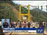 Tiwintza: Avanza la construcción de un puente sobre el río Zamora