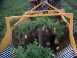 Double Row Potato Harvester Machine