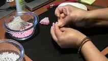 2 PARTE-Lao em perolas com duas cores Passo a Passo -loop beads