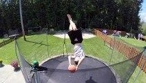 GoPro :  les trick shots délirants de Libertowski ( Basketball Trampoline Trickshots with Kevin Libertowski ) !