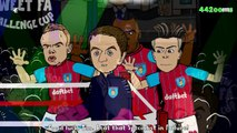 ☕️FA CUP FINAL 2015☕️ Wenger vs Sherwood Rap Battle (PARODY football cartoon)