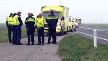 Automobilist zwaar gewond bij frontale botsing met vrachtwagen op de Eemshavenweg - RTV Noord