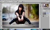 Adobe Photoshop tutoriels - jeune fille solitaire