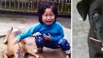 Heart-breaking moment five-year-old girl finds her missing pet dog being sold ready-cooked