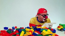 Videos for Kids LEGO Car Clown CLONE! Childrens Toy Trucks Videos (автомобиль клоун)