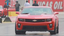 Chevy Camaro ZL1 Runs the Quarter-Mile on the Drag Strip