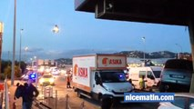 Accident péage St Isidore A 8 Nice