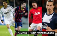 Top 10 The World's Highest Paid Football Players 2015