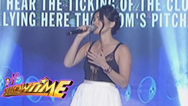 """It's Showtime Singing Mo To: Anne Curtis sings """"Alone"""""""