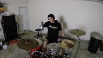 Burn - Drum Cover with Fire Sticks - Ellie Goulding - Drumming With Fire (Brit Awards 2014 song)_ By Toba.tv