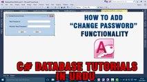 P(7) - C# Access Database Tutorials In Urdu - Change Password Functionality