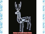 White Twinkling Reindeer with Moving Head LED Christmas Rope Light (102cm)