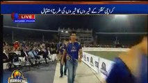 Muhammad Aamir Welcomed by People in Karachi