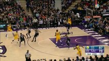 Stephen Curry Puts Moves on Seth Curry