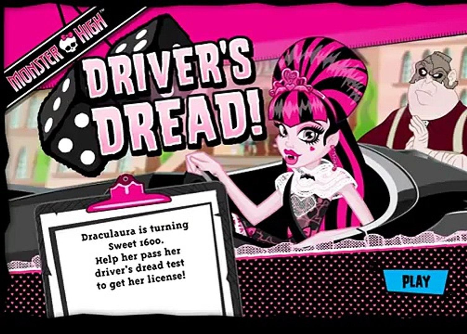 Монстр Хай: Школа Монстров - Дракулаура Учится Водить/Monster High Drivers Dread