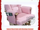 PINK SUPREMO BAMBINO Nursing Glider/Gliding Rocking Maternity Chair with Free Footstool