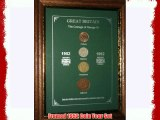 Framed 1952 GB Great Britain British Coin Birth Year Vintage Retro Gift Set (64th Birthday