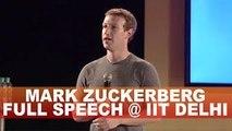 Facebook CEO Mark Zuckerberg at IIT Delhi, India | Mark Zuckerberg In India | Full Video