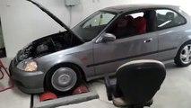 Honda Civic LAK10 VTi Dyno 99 EK4 Hatch B16A2