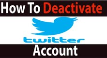 How To Delete Twitter Account || Deactivate Twitter Account