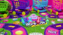 Shopkins Shopping Cart Sprint Game with 4 Shop Carts + 4 Exclusives from Season 2 and 3